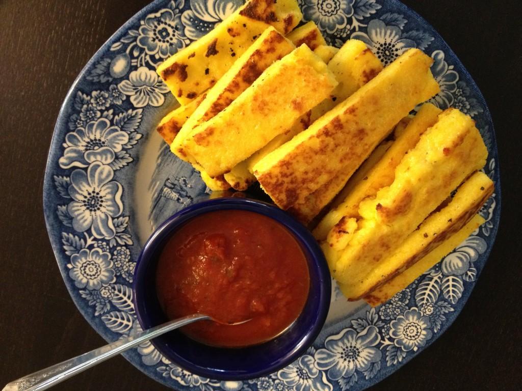 Baked Polenta Fries with Marinara Sauce » Nutmeg Notebook