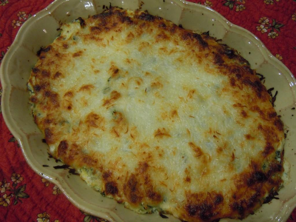 ... cheeses bake up all creamy inside and brown and crispy on top