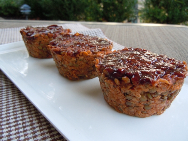 BBQ Lentil Loaf Muffins Nutmeg Notebook