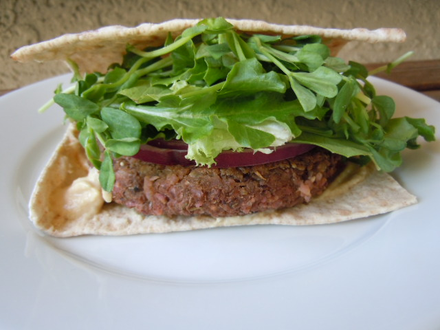 Beet Lentil Brown Rice Burgers