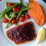 Oven Barbecue Roasted Salmon