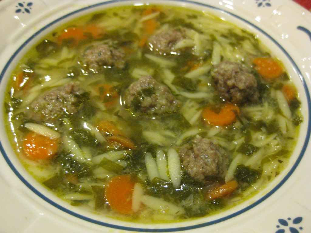 It is a light but flavorful soup, looks pretty in a soup bowl and goes ...