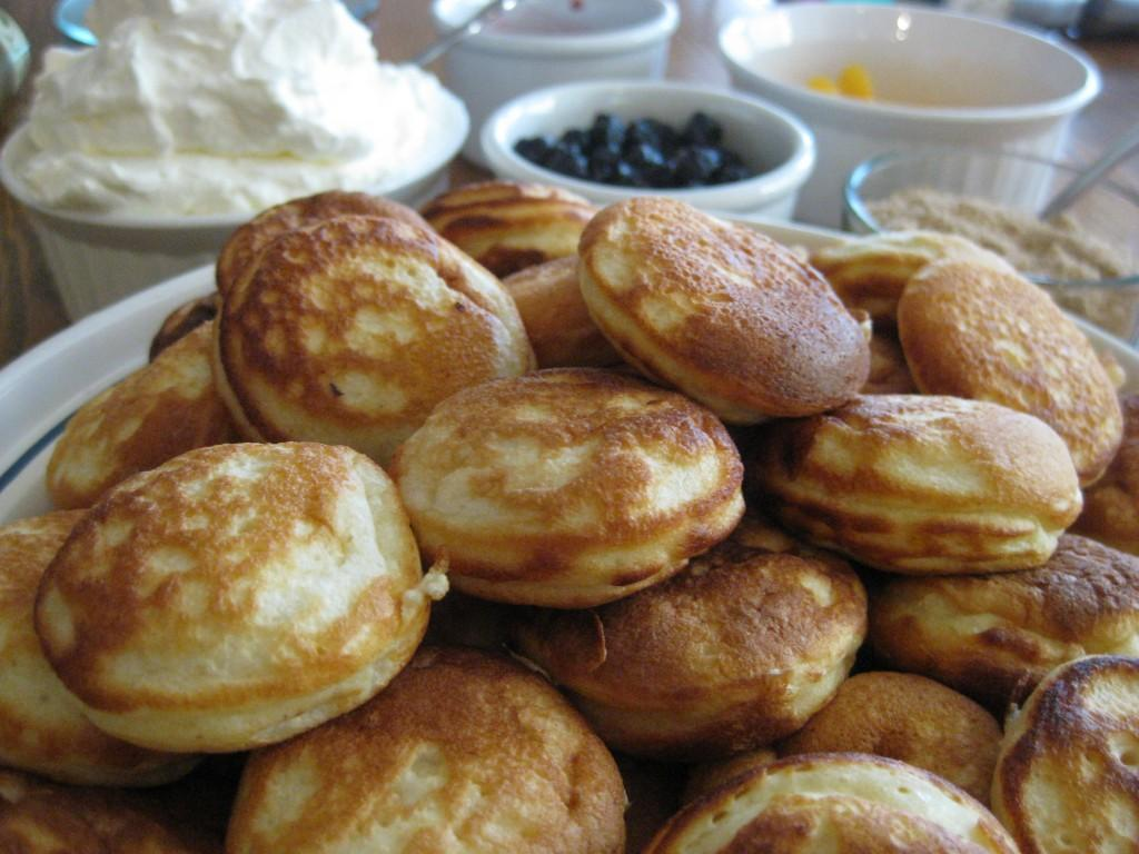 Our traditional christmas breakfast includes aebleskivers for American traditional cuisine
