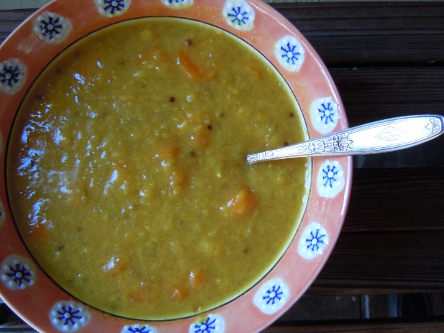 Curried Split Peas Soup
