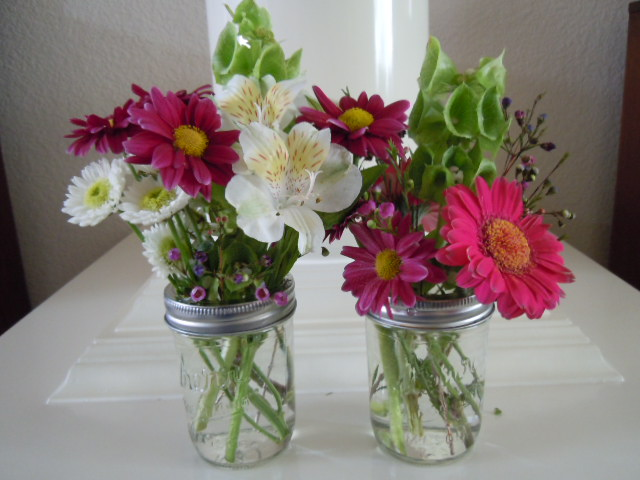 Jam Jar Vases
