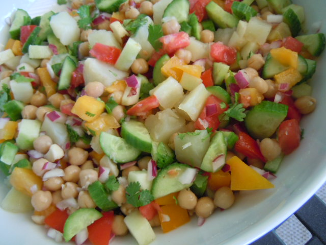 Greek Chickpea Salad » Nutmeg Notebook