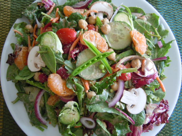 Tami's huge lunch salad