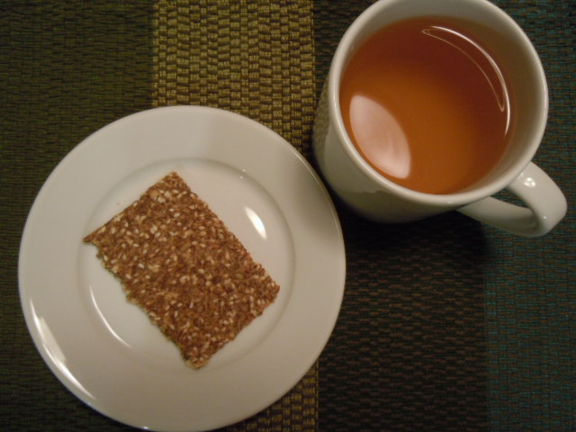 Green Tea & Flax Seed Cracker