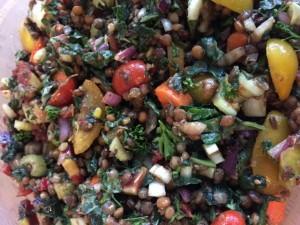 Mediterranean Lentil Salad Nutmeg Notebook
