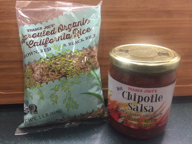 Trader Joe's Organic  Rice Blend & Chipotle Salsa Nutmeg Notebook