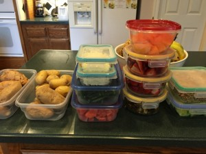 Food prep ready for the fridge. Nutmeg Notebook