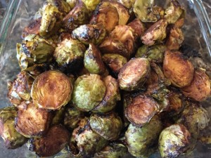 Chef Aj's Balsamic Dijon Roasted Brussels Sprouts Nutmeg Notebook