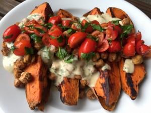 Mediterranean Baked Sweet Potatoes Nutmeg Notebook