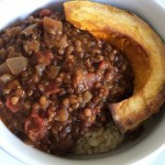 Black & Red Lentil Chili with Rice & Squash