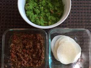 Lentil Tacos & Jicama Tortillas with Pea Guacamole