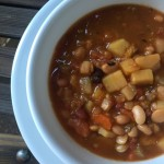 Vegan Multi Bean Soup - Slow Cooker Nutmeg Notebook