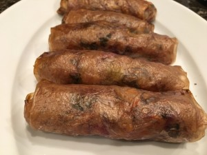 Crispy Spring Rolls - Vegan - Gluten Free - Oil Free - Air Fryer Nutmeg Notebook
