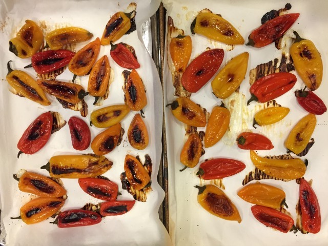 Oven Roasted Sweet Mini Peppers Nutmeg Notebook