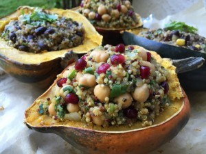 Curry Quinoa Stuffed Acorn Squash Nutmeg Notebook