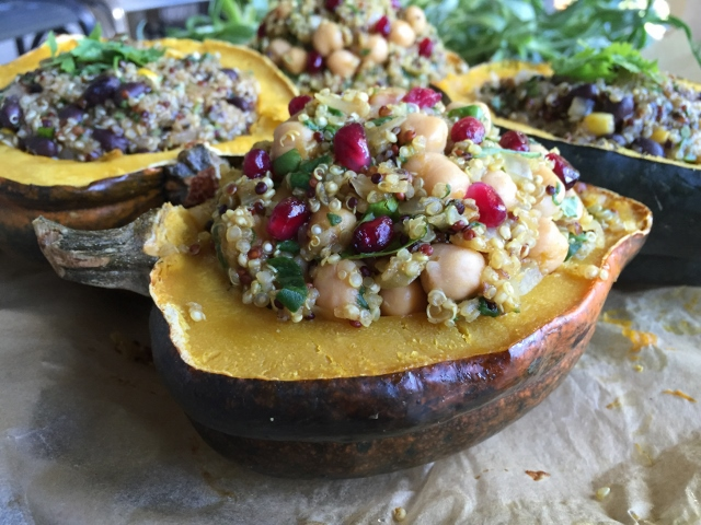 Curry Quinoa Stuffed Acorn Squash & Mexican Quinoa Stuffed Acorn Squash Nutmeg Notebook