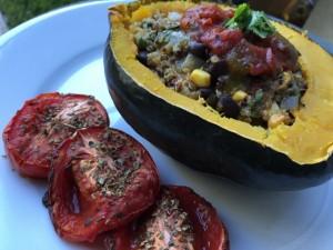 Mexican Quinoa Stuffed Acorn Squash Nutmeg Notebook