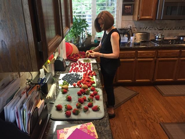 Cleaning berries! Nutmeg Notebook
