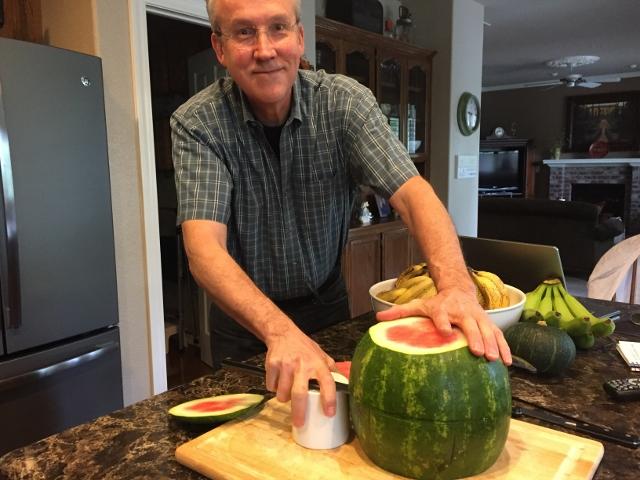 Watermelon layers in progress. Nutmeg Notebook