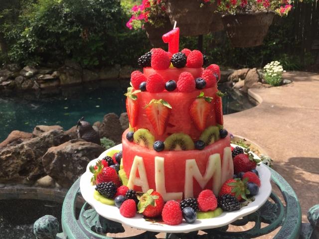 Watermelon Cake for Alma! Nutmeg Notebook