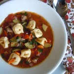 Italian Sausage and Tortellini Soup 064