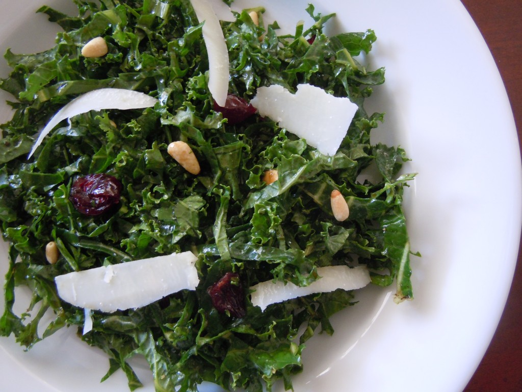 ... and pine nuts raw kale salad with balsamic pine nuts and parmesan