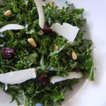 Kale Salad Fish & Asparagus Peach Salsa 002