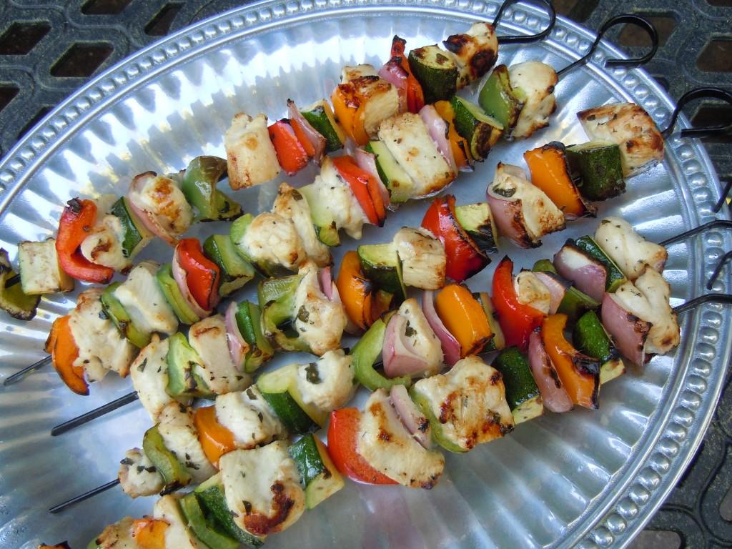 Chicken Souvlaki Kabobs with Tzatziki Sauce & Positive ...