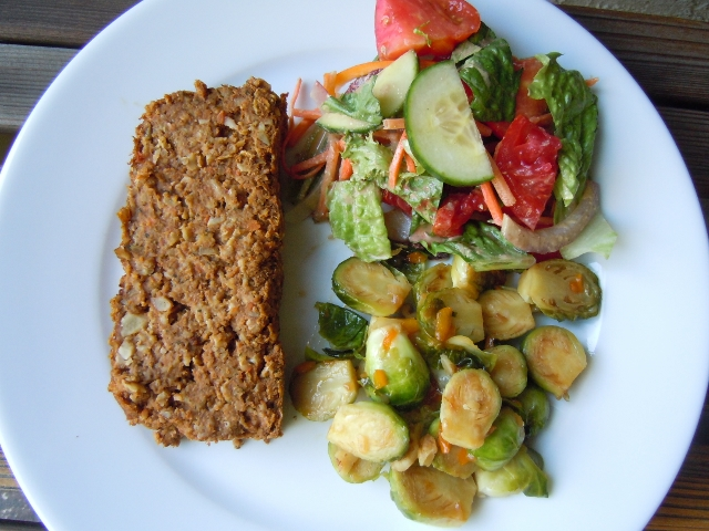 Lentil Loaf & Maple Glazed Brussels Sprouts