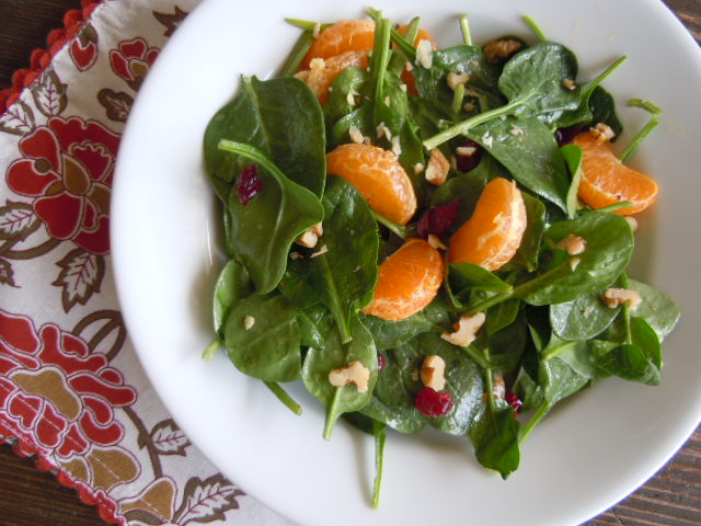 Spinachc Mandarin,Craisin Salad