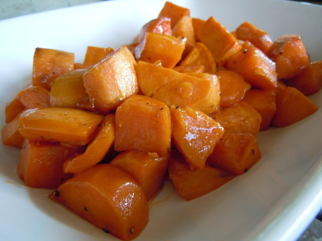 Maple Roasted Sweet Potatoes / Turkey with Lemony Thyme Butter ...