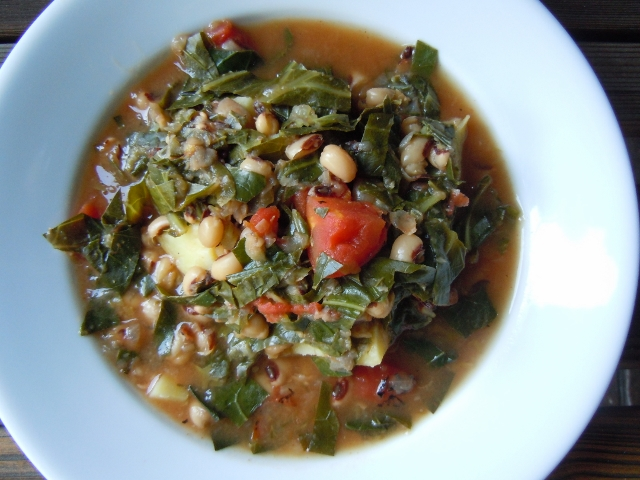 Spicy Collards & Black Eyed Peas