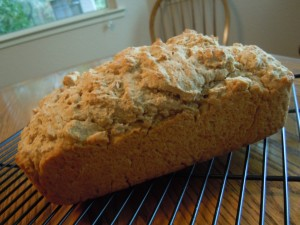 Pear Salad Beer Bread 024