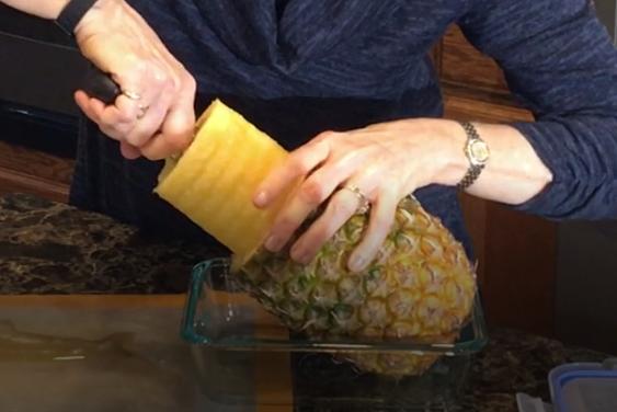 SS Pineapple Easy Slicer Nutmeg Notebook