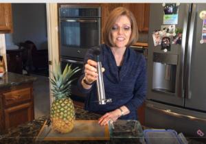 Stainless Steel Pineapple Easy Slicer Nutmeg Notebook