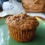 Pumpkin Banana Chocolate Chip Muffins