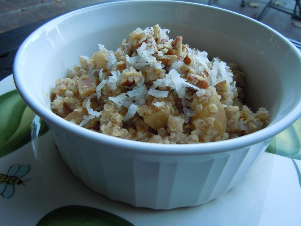 Hot Apple Quinoa Breakfast Bowl & Mexican Corn and Quinoa Chowder ...
