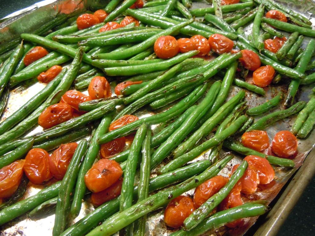 Sweet Orange Salmon and Oven Roasted Green Beans With Tomatoes Weight ...