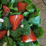 Shoes, Salmon, Asparagus, spinach salad 011