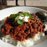 Vegetarian Black Bean &amp; Soy Chorizo Chili