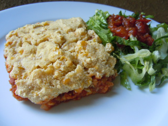 Tempeh Tamale Pie