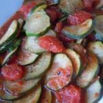 Tomato Stewed Zucchini, Rice Noodle Soup 024