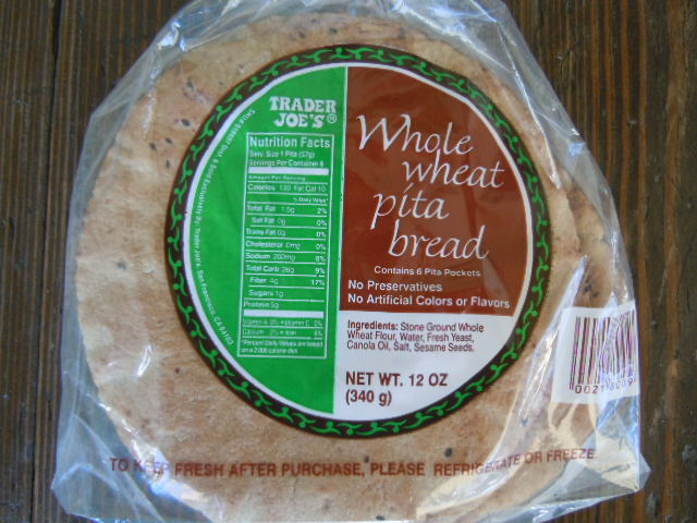 Trader Joes Whole Wheat Pita