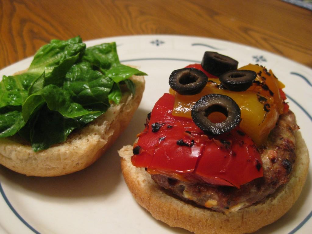 Feta Stuffed Turkey Burgers » Nutmeg Notebook