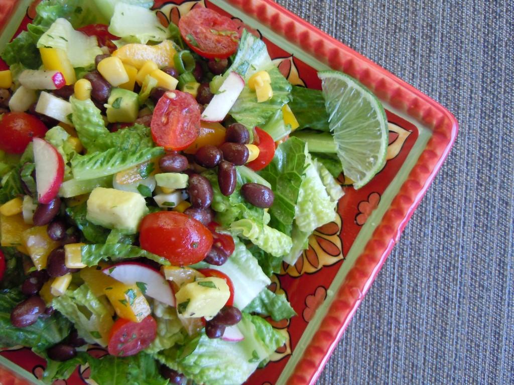 Mexican Chopped Salad with Honey Lime Dressing » Nutmeg Notebook
