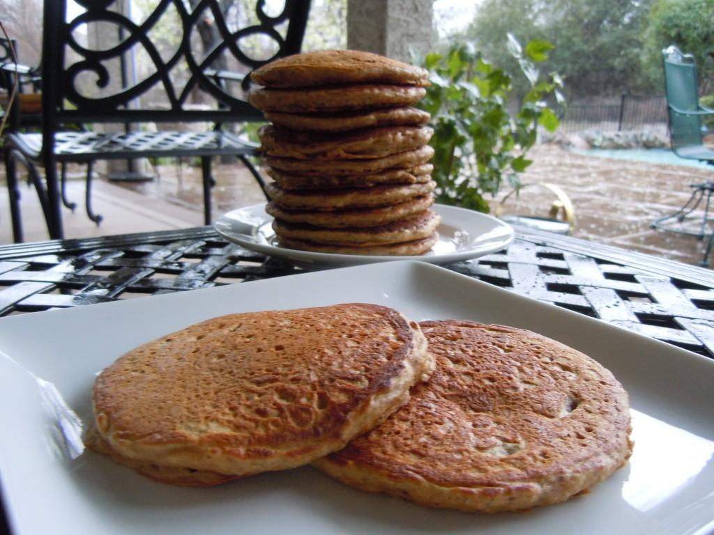 Nutty Whole Wheat Pancakes Recipe — Dishmaps
